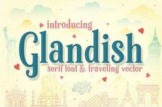 Glandish Font  - Let's Go Traveling  @creativework247