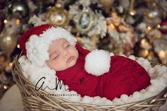 Baby Santa Hat, Newborn Santa Hat, Long Tail Hat, Santa Christmas Hat, Christmas Hat , Santa Photo Prop, infant, toddler, Santa Claus Hat