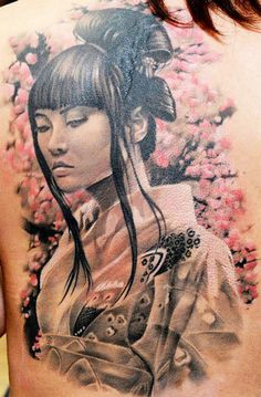Tattoo Artist - John Maxx - geisha tattoo | www.worldtattoogallery.com