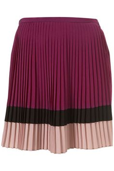 COLOUR BLOCK PLEAT SKIRT Price: £36.00... I'm not alwayz a huge fan of color blocking... It just depends on how itz done... This is beautiful & classy!!!
