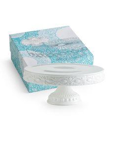 Les Desserts Pedestal Round Skirted - Rosanna Inc