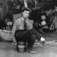 "Buster Keaton in a promo pic for his short film ""The Paleface"""