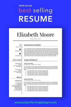 Professional Resume Template Elizabeth Moore - Resume Template Ideas of Resume Template - Resume Template Modern Resume Template Professional Resume Template Creative Resume Template Job Resume Format, Job Resume Examples, Teacher Resume Template, Modern Resume Template, Resume Templates, Professional Resume Examples, Resume Ideas, Resume Help, Resume Tips