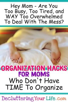 Organized mom tips and HACKS. How to be an organized mom who works or is a stay at home mom. Life hacks and clean house hacks for daily schedules to clean when you don't have time and getting organized with kids. Clutter Organization, Home Organization Hacks, Organizing Ideas, Decluttering Ideas, Organizing Solutions, Bedroom Organization, Organising, Storage Solutions, Getting Organized At Home