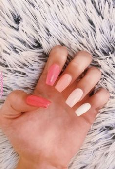 Best Nail Polish Colors For Olive, Tan, Light, Medium Skins : New and Trending Nail Color ideas for Pretty long nails. Acrylic Nails Coffin Short, Simple Acrylic Nails, Summer Acrylic Nails, Best Acrylic Nails, Colorful Nails, Coffin Nails, Summer Nails, Pastel Nails, Stiletto Nails