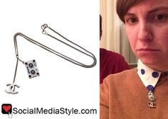 Lena Dunham's Cassette Tape Chanel Necklace
