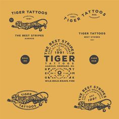 "78 Likes, 6 Comments - Nicholai Møller (@nicholai_moeller_design) on Instagram: ""A bit of stripes for Tiger Tattoos branding."""