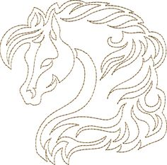 Horse Song - Continuous Single Line Quilting $20 but great inspirations for a horse type quilt!