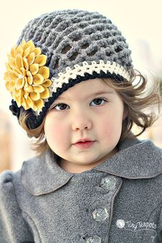 Girls Hat Golden Dahlia Slouch Hat Baby Toddler by TinyTeapots, $39.00