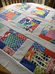 Modern Beach House Quilt TOP UNFINISHED quilt top Kate