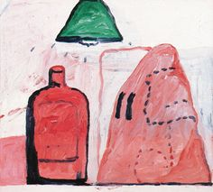 philip guston  head, bottle, light, 1969  oil on canvas  50,8 X 55,9  Saatchi gallery