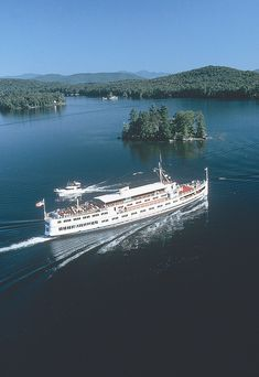 M/S Mount Washington Cruiseship on Lake Winnipesaukee, Photo Credit: New Hampshire Division of Travel and Tourism - M/S Mount Washington Cruises New England States, New England Travel, Cruise Vacation, Vacation Spots, Travel And Tourism, Travel Usa, Lake Winnipesaukee Nh, Mount Washington, Shore Excursions