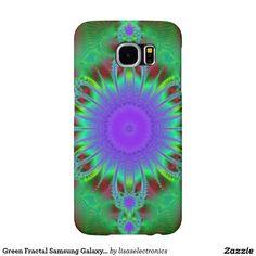 Green Fractal Samsung Galaxy S6 Case