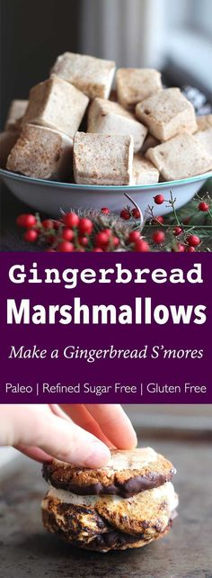 Gingerbread Marshmallows (Paleo, gluten-free, refined sugar-free) | The Paleo Paparazzi