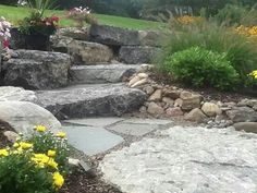 Love the stone work! Great job by Hunter Springs Landscape company!