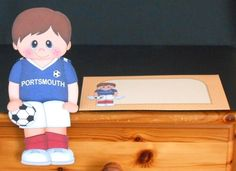 3D On the Shelf Card Kit - Little Footballer Daren plays for Portsmouth - Photo by Joan Prince
