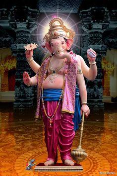 Jai Ganesh, Ganesh Idol, Shree Ganesh, Clay Ganesha, Ganesha Art, Ganesh Images, Ganesha Pictures, Ganesh Bhagwan, Shiva Parvati Images