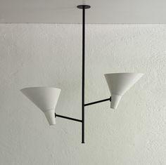 Rare ceiling lamp by Carl Moor for BAG Turgi, 1950s