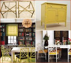 love the faux bamboo  Hollywood Regency style