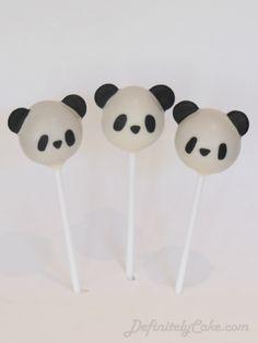 Panda Cake Pops by Definitely Cake Panda Birthday Party, Panda Party, Baby Birthday, Animal Cake Pops, Bolo Panda, Panda Baby Showers, Panda Cakes, Oreo Pops, Marshmallow Pops