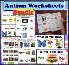 75% OFF today!!! Autism Worksheets - Wh Questions for Special Education, Speech Therapy, ABA #autism For more resources follow https://www.pinterest.com/angelajuvic/autism-special-education-resources-angie-s-tpt-sto/