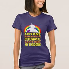 Shop Funny Delusional Unicorn (distressed vintage) T-Shirt created by RobotFace. Personalize it with photos & text or purchase as is! Wardrobe Staples, Fitness Models, Unicorn, Female, Casual, Cotton, Mens Tops, T Shirt, How To Wear