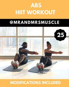 Abs And Obliques Workout, Full Body Hiit Workout, Oblique Workout, Hiit Workout At Home, Abs Workout Routines, Gym Workout Tips, Workout Challenge, Fun Workouts, At Home Workouts