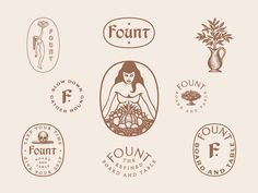 Fount designed by Jonathan Schubert. Connect with them on Dribbble; the global community for designers and creative professionals. Logos, Logo Branding, Branding Design, Brand Identity, Packaging Design, Logo Marque, Nail Logo, Brand Assets, Hand Drawn Logo