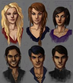 """aelingalathynius6: """"xdeadonarrivalx: """"welp it's almost 3am, but here they are! almost as close as to how i picture them all!!! (i say almost because i'm still having difficulties with cas lmao) hope..."""