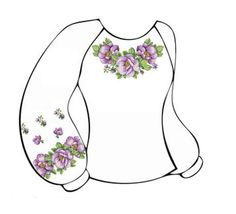 Льняная белая женская вышиванка ВЖЛ-002Б