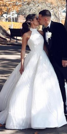 82ff9513b58 581 Best Halter Wedding Dresses images in 2019