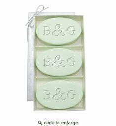 SIGNATURE SPA GREEN TEA & BERGAMOT TRIO: THREE BARS PERSONALIZED INITIAL & INITIAL