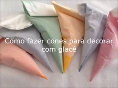 Cones de papel manteiga para confeitar - YouTube