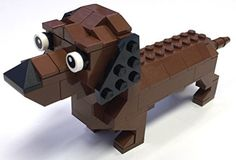 LEGO Brown Dachshund Parts & Instructions Kit - 118 pieces by ConstructiblesLLC on .