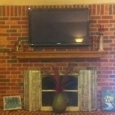 DIY Upcycled Shutter Fireplace Screen! | Cathy | Pinterest ...