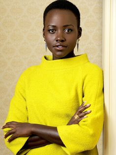 Actress Lupita Nyong'o... Love That Yellow On Her...