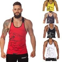 Wish | Mens Tank Tops Gym Singlets Sports Fitness Sleeveless Vests