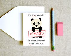 Hey, I found this really awesome Etsy listing at http://www.etsy.com/listing/126038269/birthday-suit-panda-funny-quirky-cheeky