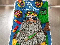 Duck Dynasty themed cake