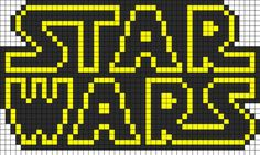 Star Wars Logo Perler Bead Pattern | works for cross stitch, too!