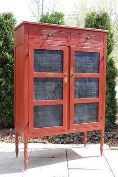 kitchen pie safe cabinet | vintage kitchen open pantry vintage kitchen shelf vintage kitchen ...