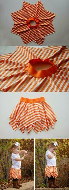 Wonder Nice Photozz: Recycling Make a Square circle skirt