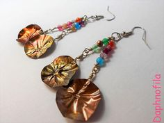 Colorful and playful earrings Handmade earrings and jewelry