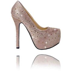 Crystal Sparkle Champagne Shoes Pack of 12 ($405) ❤ liked on Polyvore