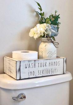 Potty Talk Bathroom Organizer Box Wash Your Hands No Etsy – New Ideas – diy bathroom decor Bathroom Storage Boxes, Bathroom Box, Diy Bathroom Decor, Bathroom Organisation, Diy Home Decor, Farmhouse Decor Bathroom, Bathroom Remodeling, Bath Decor, Farm House Bathroom Decor