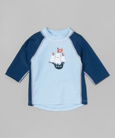 This Light Blue Pirate Ship Rashguard - Infant is perfect! #zulilyfinds
