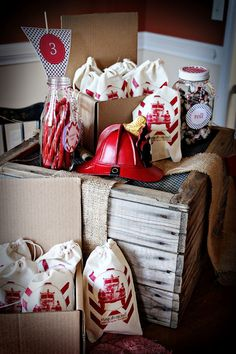 Kara's Party Ideas Firetruck 3rd Birthday Party - Vintage Fireman Party Ideas |