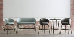 An innovative lounge collection developed by Swedish design Studio Form Us With Love, Nest boldly challenges the conventions of the traditional barstool and sofa, melding the two together to create unique, upholstered high and low lounge seating.
