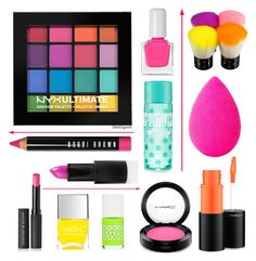 """Feeling Fluorescent"" by burlsgurl ❤ liked on Polyvore featuring beauty, tenoverten, Le Métier de Beauté, Nails Inc., MAC Cosmetics, beautyblender, Models Own, Bobbi Brown Cosmetics, Ardency Inn and beautyset"