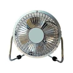 """These fit anywhere, and when you get to be my age you need them everywhere! LOL BEST tiny fan! Massey 4"""" Personal High Velocity Fan, Gray/Silver, Now Sold as PMX"""